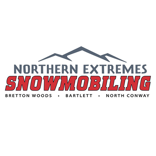 Snowmobile rentals and guided tours at the base of Mount Washington